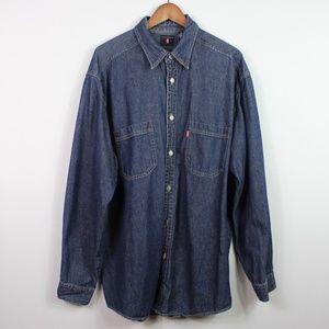 Levi's Men's Denim Casual Button Down Shirt XL